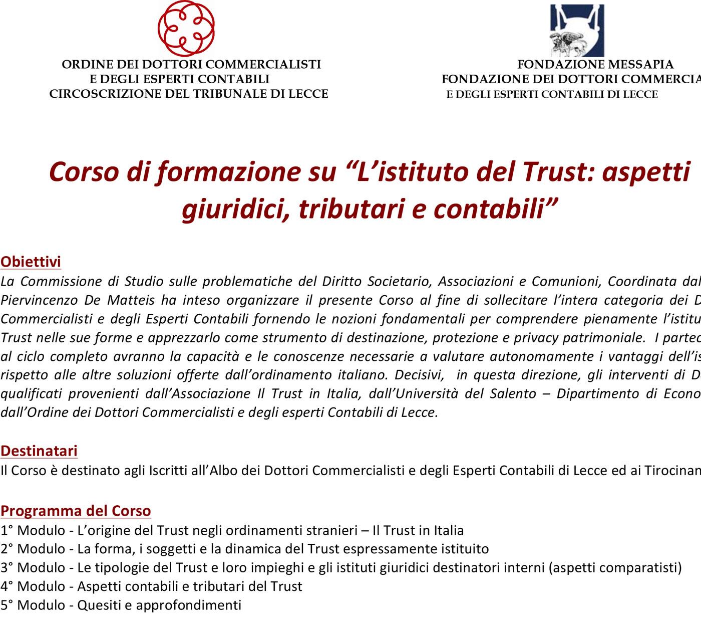 Corso-Trust-Lecce-